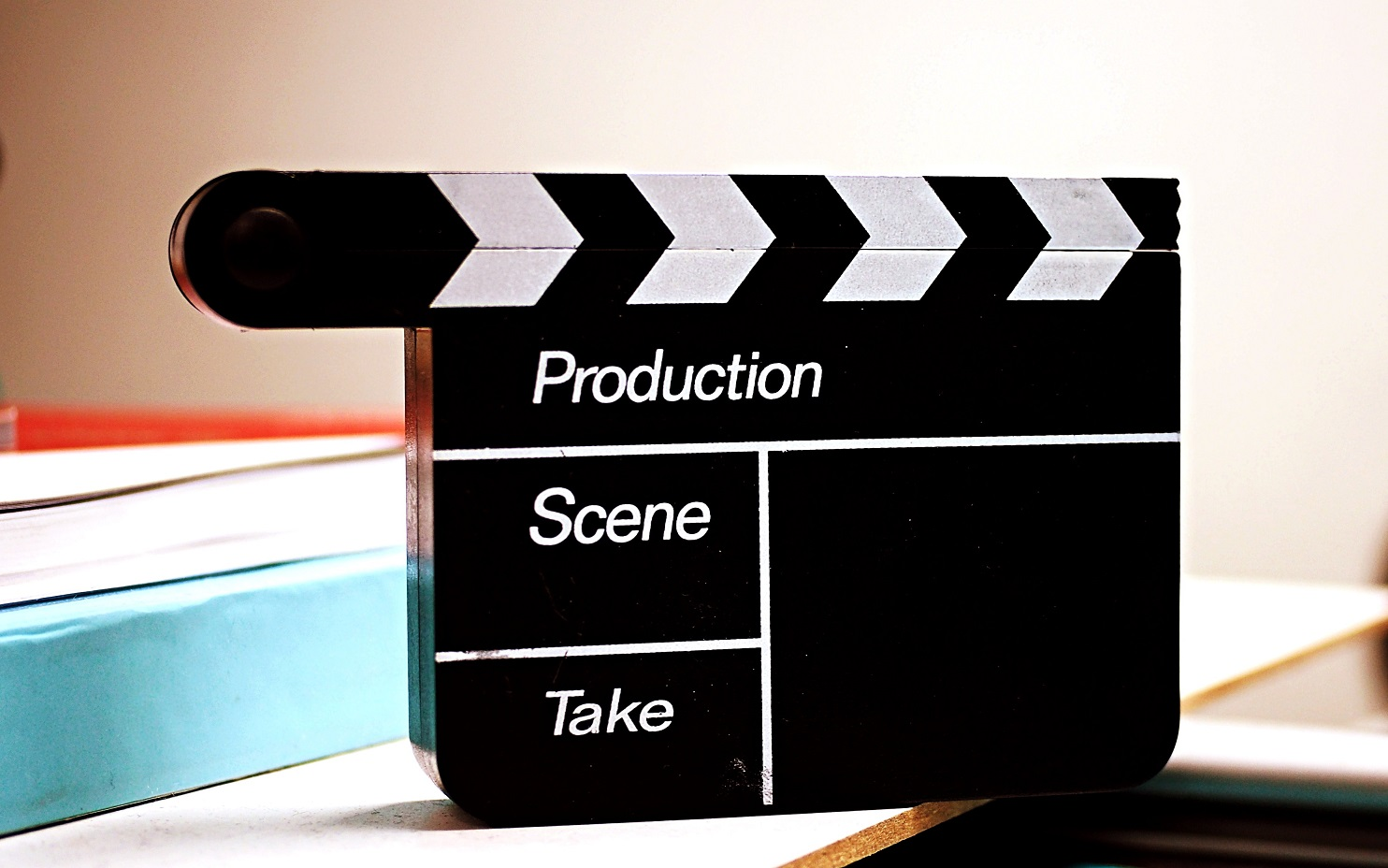 Clapperboard used for movies and television products